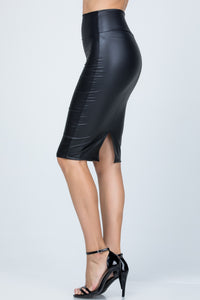 Marie Faux Leather Skirt