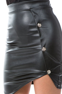 Anette Leather Skirt