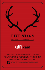 Five Stags Gift Card