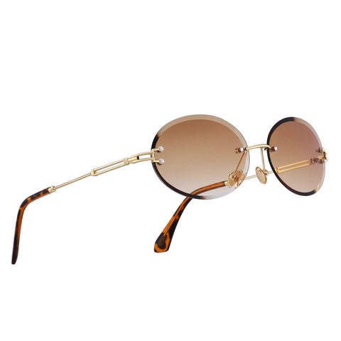 Stratos - Rimless Oval Tinted Glasses