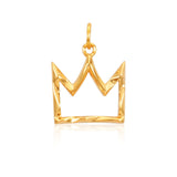 Crown Pendant Necklace (Gold)