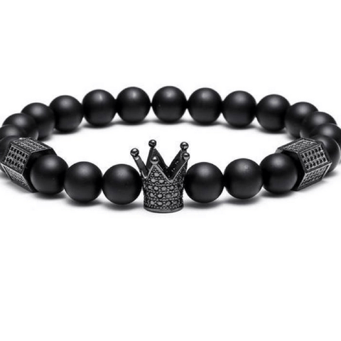 King's Crown + Stone Beads Bracelet