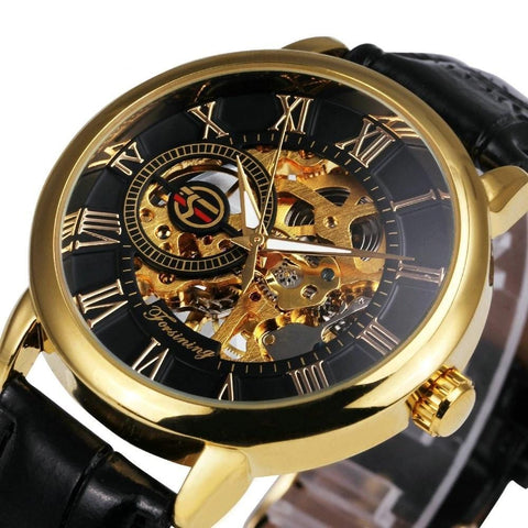 Marquess - Luxury Leather Skeleton Dial Watch