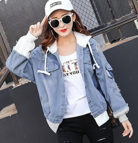 False Two Piece Denim Jacket