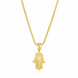Hamsa Pendant Necklace (Gold)