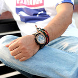 Stylish Wooden Chronograph Men Watch