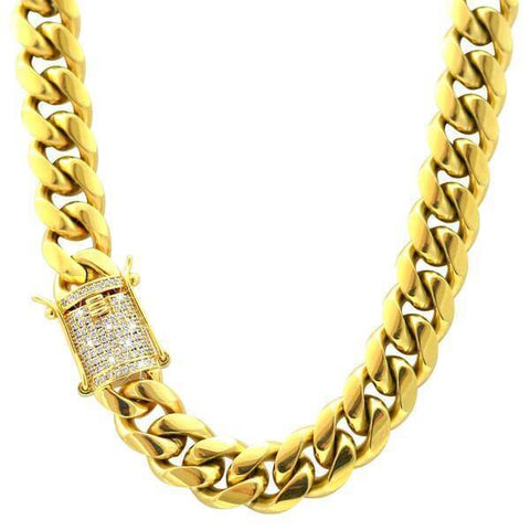 CUBAN LINK CHAIN ICED CLASP