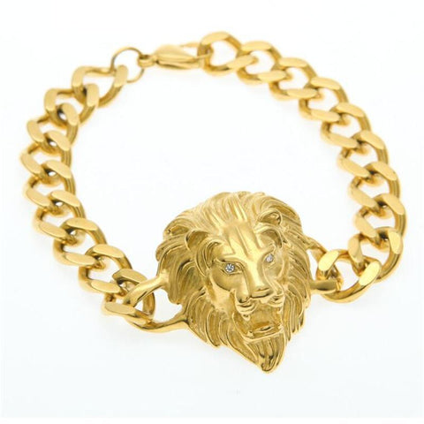LION HEAD CUBAN BRACELET