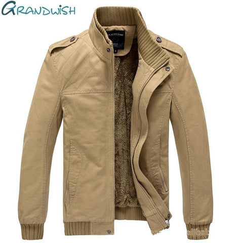Mens Military Comfortable Fleece Jacket