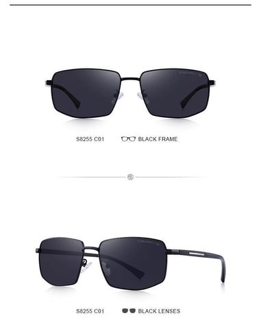 Café Racer -  HD Polarized Rectangular Classic Men's Sunglasses