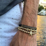 LIMITED TIME - FREE Aurelius Bracelet With The Presidential 18K 3Stack Crown Bracelet