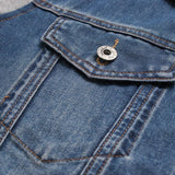 Panel Design Denim Jacket With Detachable Hood