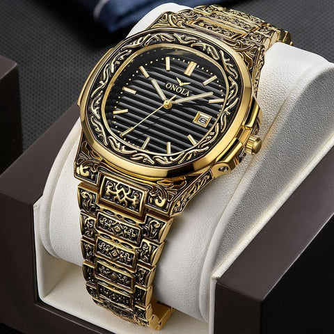 PRESTIGE - Luxury Engraved Wrist Watch