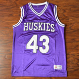 THE 6TH MAN - MARLON WAYANS/KENNY TYLER #43 HUSKIES BASKETBALL JERSEY