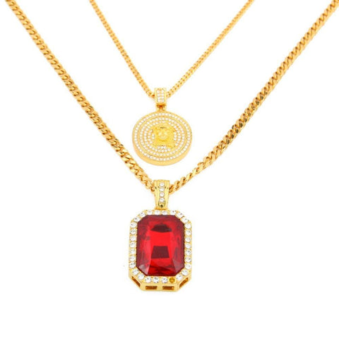JEWELRY SET - JESUS x GEM RED