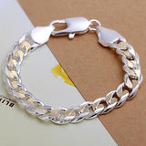 10mm Two Toned Gold Silver Thick Chain link Polish Men's Bracelet