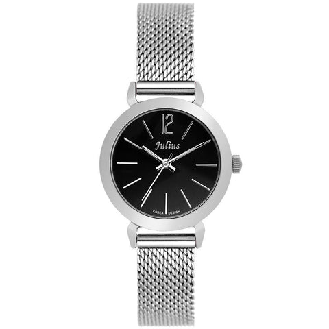 Women's Luxury Wristwatch with Stainless Steel Mesh Belt