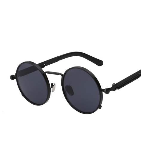 Harlem - Round Retro Steampunk Sunglasses