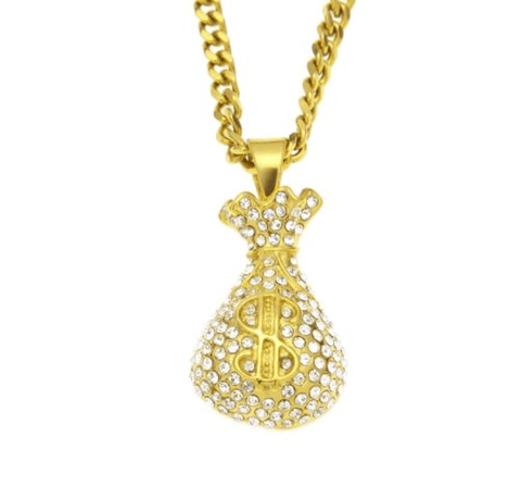 Iced MONEY BAG GOLD CHAIN
