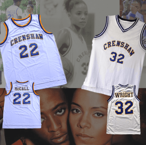 LOVE & BASKETBALL - QUINCY MCCALL AND MONICA WRIGHT - White Home Jerseys