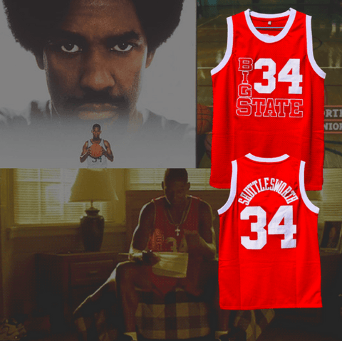HE GOT GAME - *BIG STATE* - JESUS SHUTTLESWORTH #34 BASKETBALL JERSEY - RED
