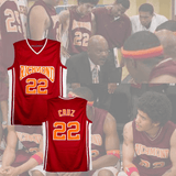 COACH CARTER - TIMO CRUZ #22 BASKETBALL JERSEY