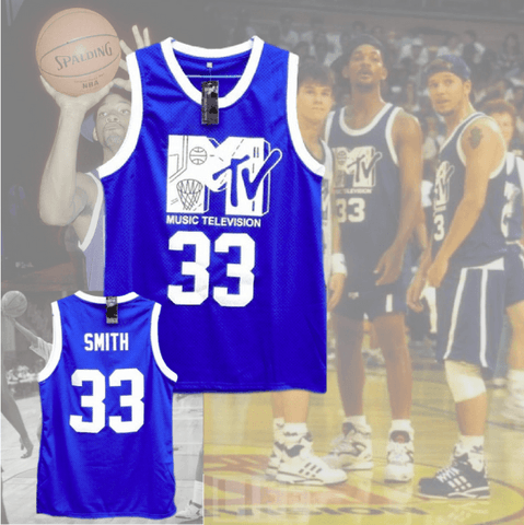 WILL SMITH - 1ST ANNUAL ROCK N' JOCK B-BALL JAM 1991 - #33 BASKETBALL JERSEY
