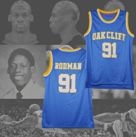 DENNIS RODMAN - OAK CLIFF HIGH SCHOOL BASKETBALL JERSEY