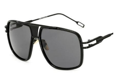 Sky - Vintage Square Retro Frame Men's Sunglasses