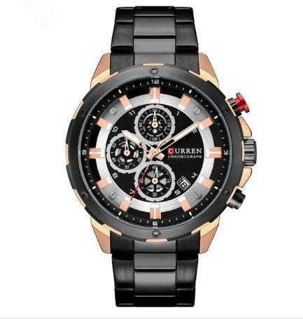Business Casual Chronograph + Sports look Wrist watch