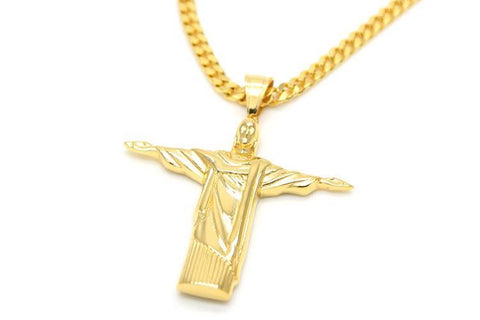 JESUS CUBAN CHAIN - GOLD
