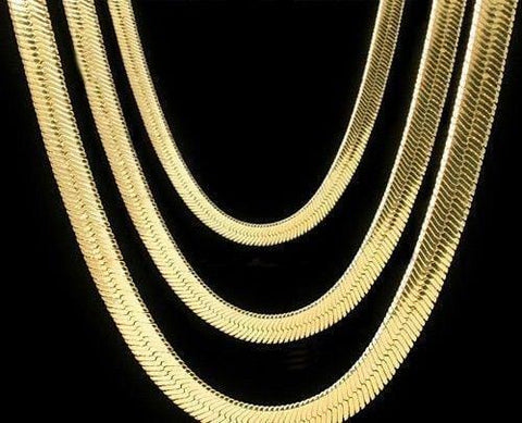 MEN'S 10MM GOLD HERRINGBONE CHAIN