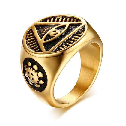 Eye of Providence Antique Men's Ring