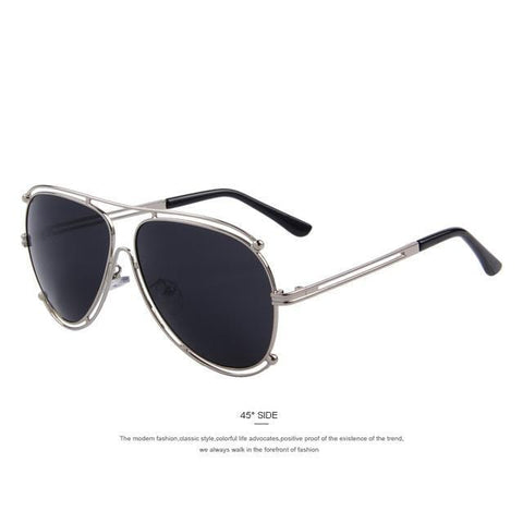 Dapper - Flat Coat Metal Frame Mirror Sunglasses
