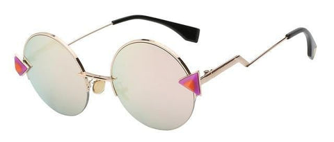 The Rand - Semi Rimless Retro  Sunglasses