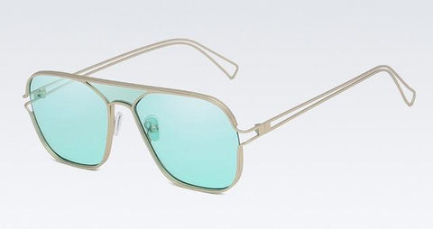 Terelli Clear - Colored Summer Square Retro Men's Sunglasses