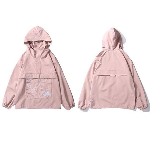 Front Pocket Windbreaker Jacket