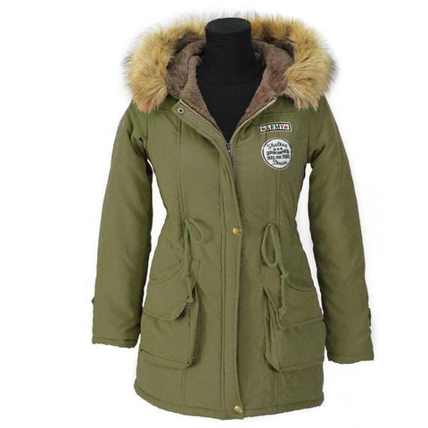 Fur Collar Hooded Women's Jacket