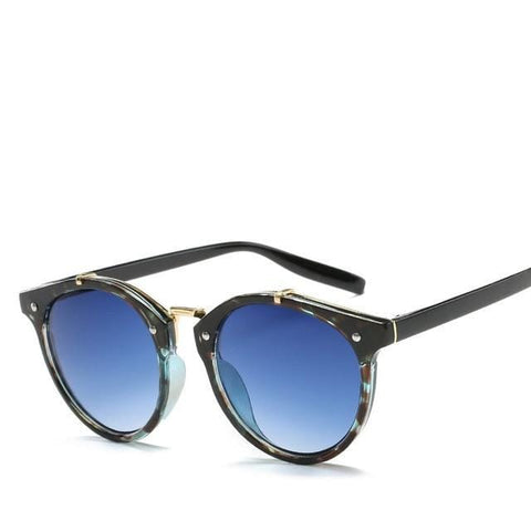 Angelou - Classic Vintage Round Men's Sunglasses