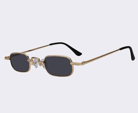 Crook - Vintage Rectangular Retro Sunglasses