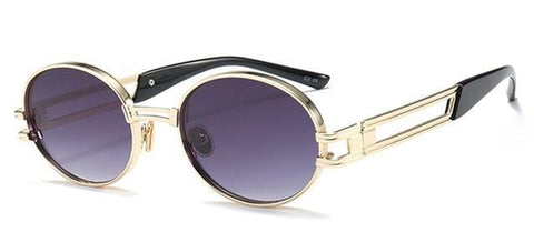Notorious - Vintage Round Metal Frame Men's Sunglasses