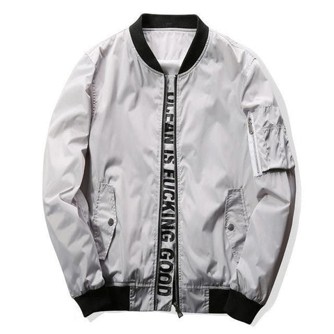 """Ocean Is Good"" Pilot Bomber Jacket"