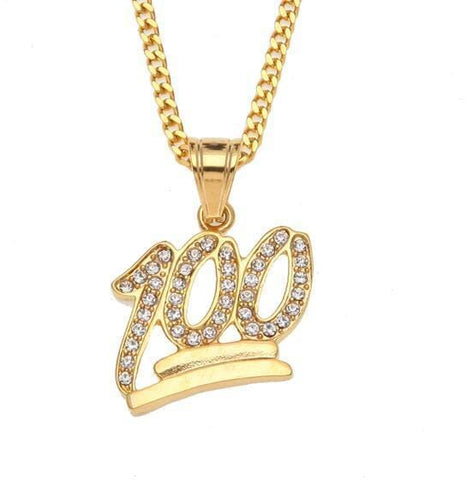 "Iced ""100"" CHAIN - GOLD"