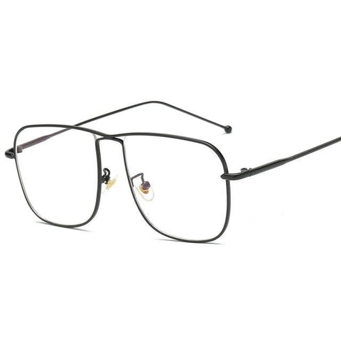 The Guru - Classic Retro Oversized Square Anti Blue Ray Eyeglasses
