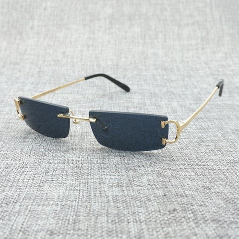 Jetsetter (Square) - Vintage Summer Rimless Square Sunglasses