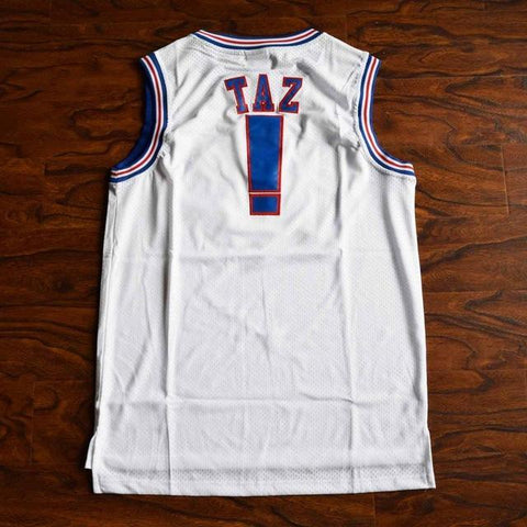 Tune Squad Basketball Jersey Stitched White