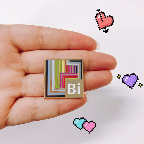 Bi (Bismuth/Bisexual) Pin - OhYouFox