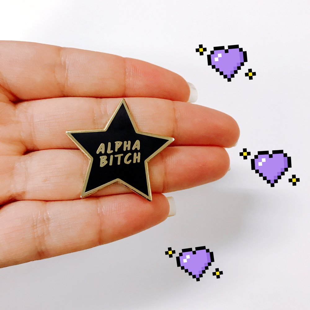 Alpha Bitch Pin (Black) - OhYouFox