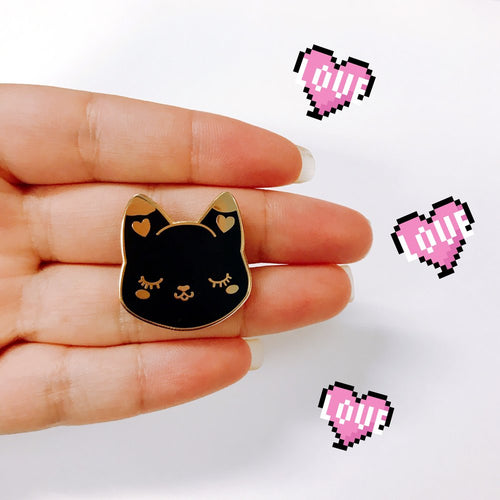 Cutie Pie Black Cat Pin - OhYouFox