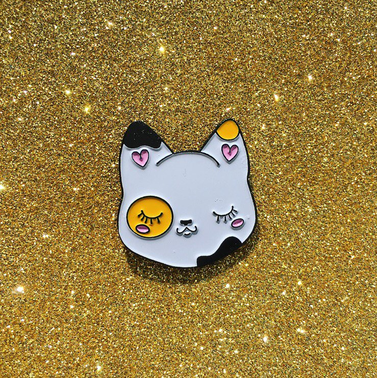 Cutie Pie Calico Cat Pin - OhYouFox